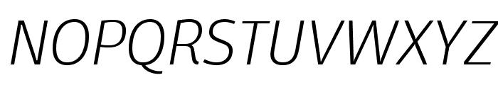 Domotika Trial ExtraLight Italic Font UPPERCASE