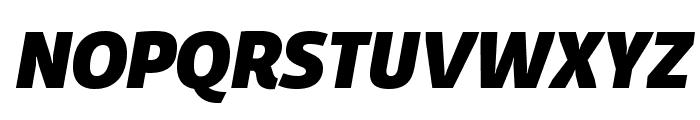 Domotika Trial Heavy Italic Font UPPERCASE