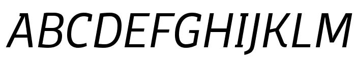 Domotika Trial Light Italic Font UPPERCASE