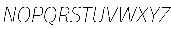 Domotika Trial Thin Italic Font UPPERCASE