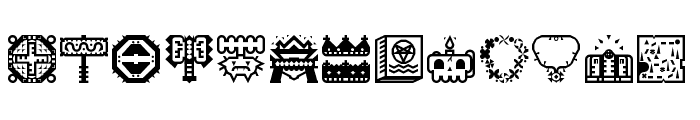 Donjonikons Regular Font UPPERCASE