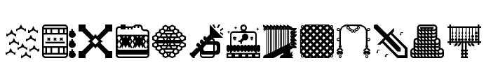 Donjonikons Regular Font LOWERCASE