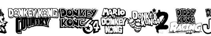 Donkey Kong World Font OTHER CHARS