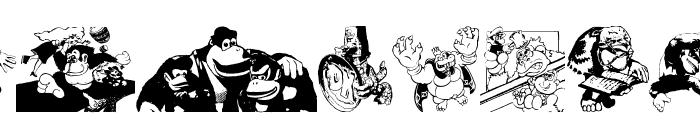 Donkey Kong World Font LOWERCASE