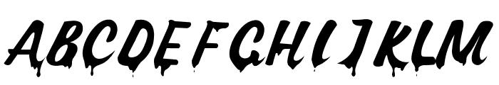 Dont Melt Drip Regular Font UPPERCASE