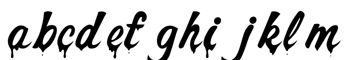 Dont Melt Drip Regular Font LOWERCASE
