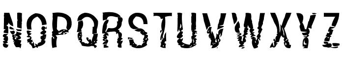Dont Walk Run Regular Font UPPERCASE