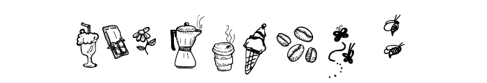 Doodle Coffee Scents Font OTHER CHARS