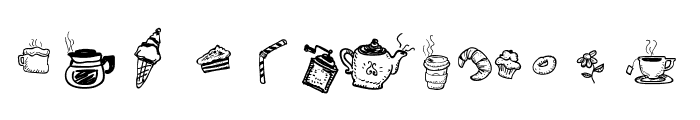 Doodle Coffee Scents Font UPPERCASE