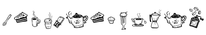Doodle Coffee Scents Font LOWERCASE