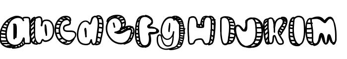 Doodle Font UPPERCASE