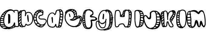 Doodle Font LOWERCASE