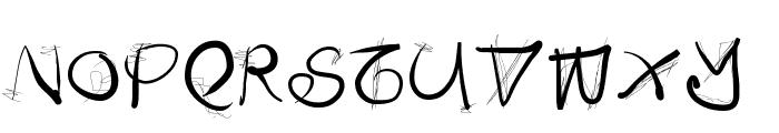 DoodlesWritten Font UPPERCASE