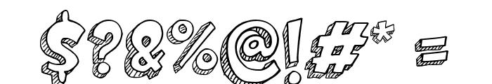 Doodletoon line Font OTHER CHARS