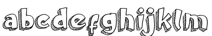 Doodletoon line Font LOWERCASE