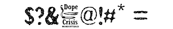 Dope Crisis Font OTHER CHARS