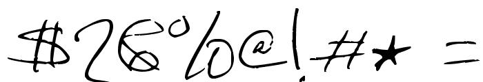 DorkifiedDistortion Font OTHER CHARS
