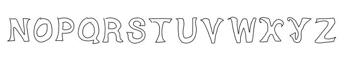 Dorky Deluxe Font UPPERCASE