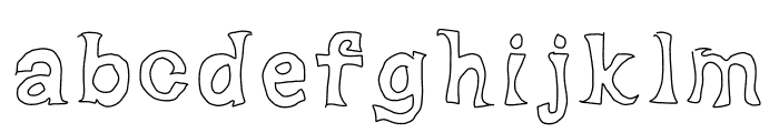 Dorky Deluxe Font LOWERCASE