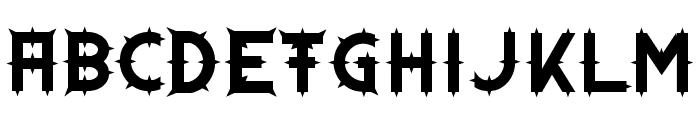 Dornen Font UPPERCASE