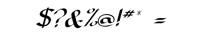 DorovarFLF-Italic Font OTHER CHARS
