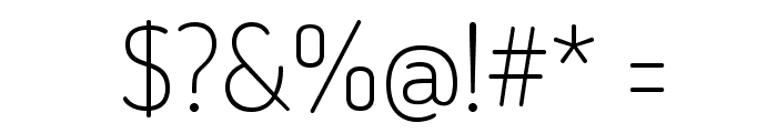 Dosis-ExtraLight Font OTHER CHARS