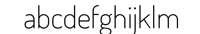 Dosis-ExtraLight Font LOWERCASE