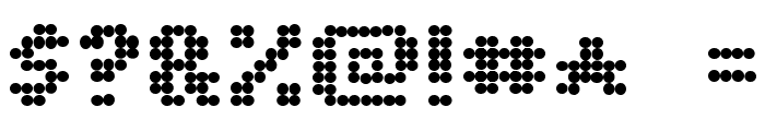 Dot Matrix Bold Font OTHER CHARS
