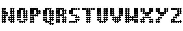 Dot Matrix Bold Font UPPERCASE