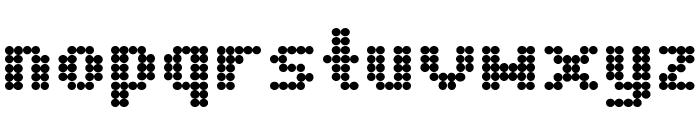 Dot Matrix Bold Font LOWERCASE