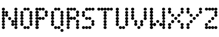 Dot Matrix Font UPPERCASE