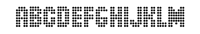 Dot Spot Font UPPERCASE