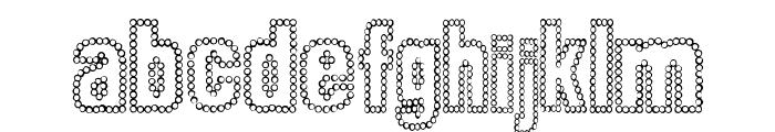 Dot Trail Font LOWERCASE
