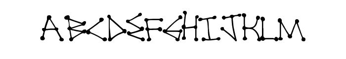 DotLine Font UPPERCASE