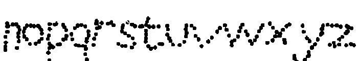 Dotted line Font LOWERCASE