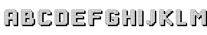 DottyShadow Font UPPERCASE