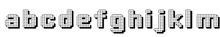 DottyShadow Font LOWERCASE