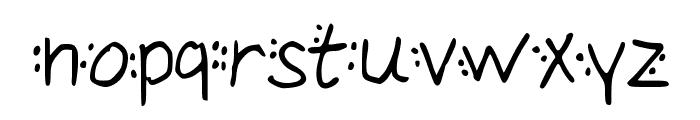 Dotty Font LOWERCASE