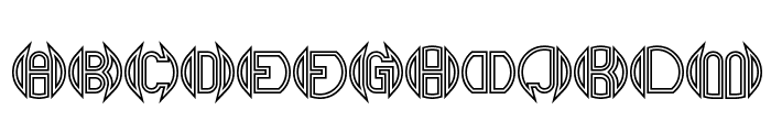 Double Bogey BRK Font UPPERCASE