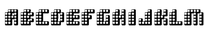 Double Strike Font UPPERCASE
