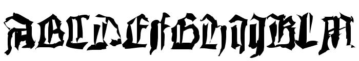 DoubleBrokenTextura Font UPPERCASE