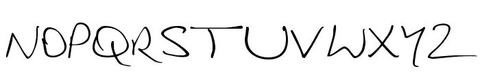 Douglas Adams Hand Font UPPERCASE