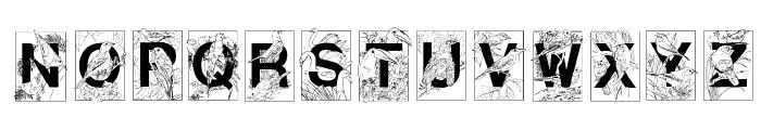 Dover Birds Filled Font UPPERCASE