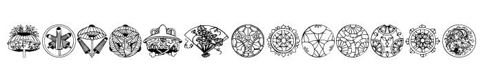 Dover Japanese Design Font LOWERCASE