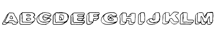 Downleft Font UPPERCASE