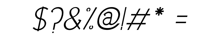 DowntownElegance-Italic Font OTHER CHARS