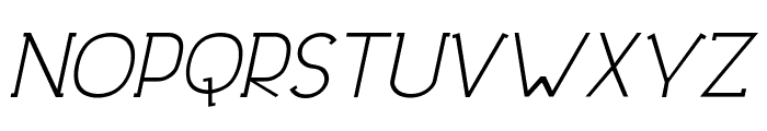 DowntownElegance-Italic Font UPPERCASE
