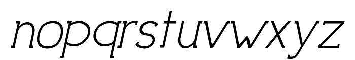 DowntownElegance-Italic Font LOWERCASE