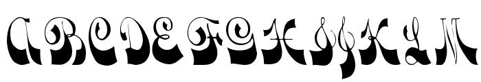 Downwind Regular Font UPPERCASE