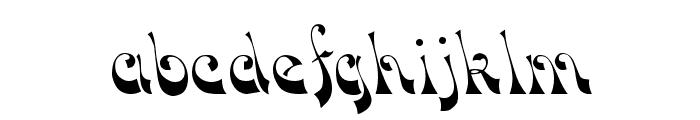 Downwind Regular Font LOWERCASE